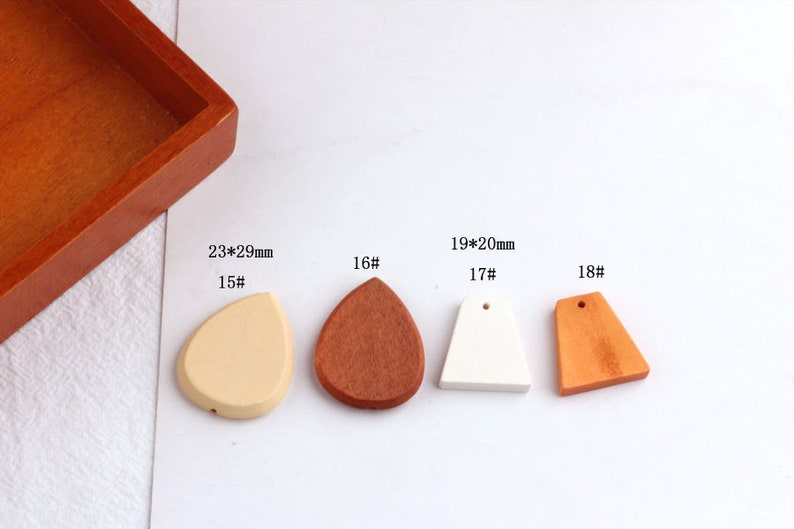 Wood Charm Pendant Wooden Charms Wooden Beads,Jewelry for Earring Necklace Making 10PCS Wood Charms Pendant