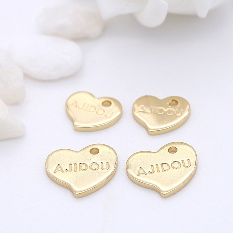 10pcs 14k Real Gold Plated Tiny Charms,Charm Pendant,Nontarish Brass Charms,Earring Charm,Jewelry Charms,Necklace Charms