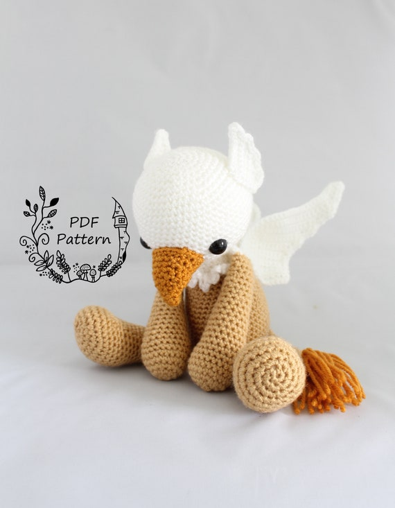 PATTERN: Hawthorne the Griffin Crochet Amigurumi Pattern   Etsy