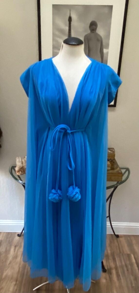 60s Vintage Lucie Ann Robe Claire Sandra Robe Blue