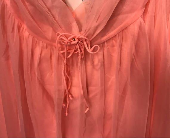 Robe & Nightgown Set Chiffon Pink Set Sexy Chiffon