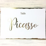 Wedding table names, Flat Table names, table name idea, A6, Gold Table decor, Elegant Decor, Reception Table Number, Event supplies,