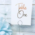 Wedding Table Numbers, A6 wedding cards, metallic printing, Wedding Table decor, Wedding stationery, Reception Table decor