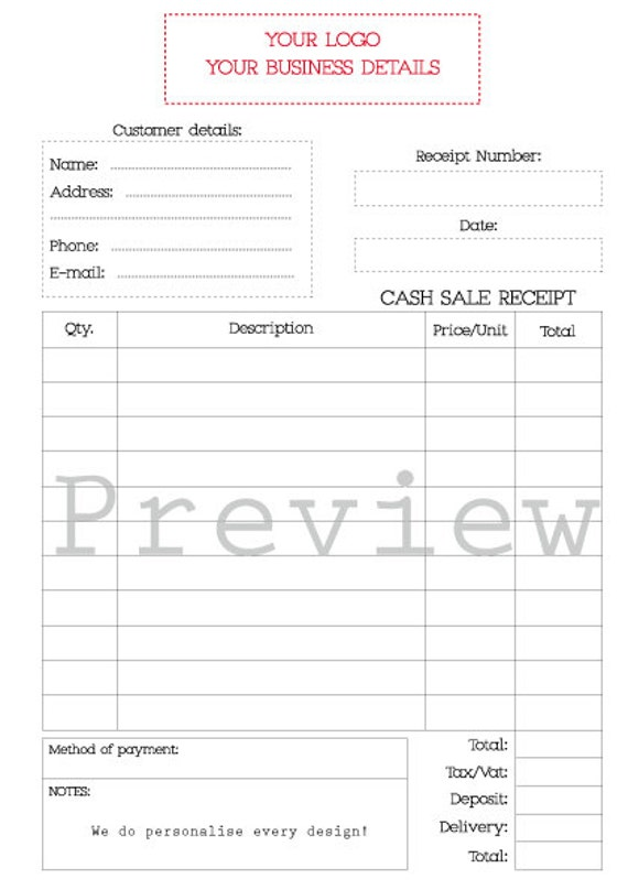 photograph relating to Printable Receipt Book called Dollars Receipt E-book - Printable - Petty money receipt - Receipt pad - Receipt e book - Custom made - A5 Measurement - Outlets Receipt e book Business shipping and delivery