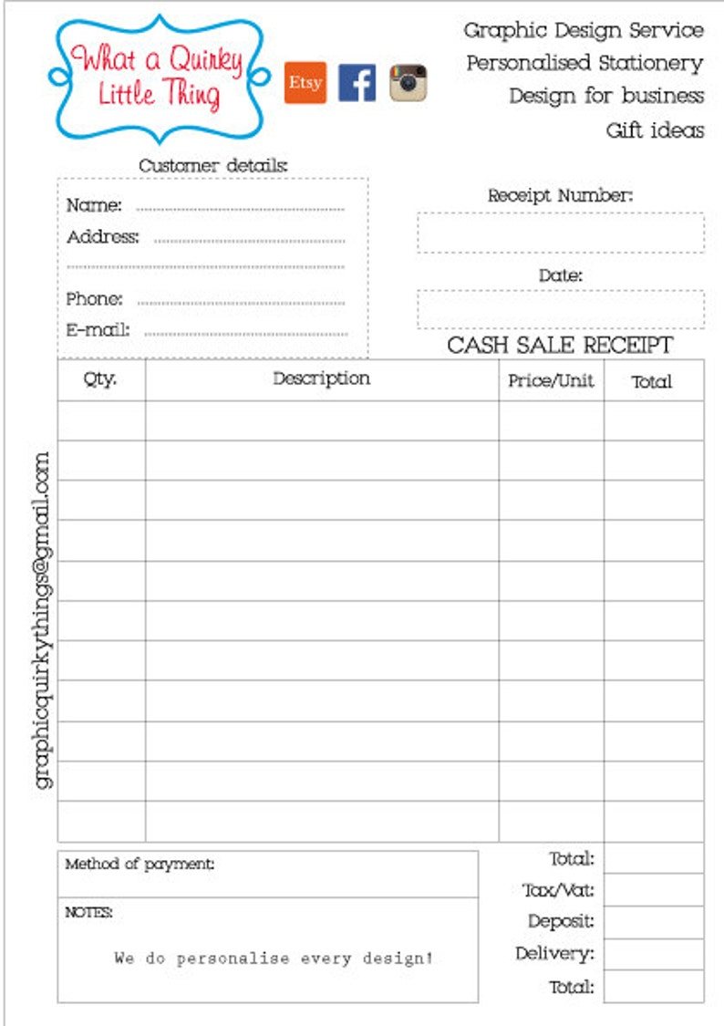image about Printable Receipt Book referred to as Money Receipt E-book - Printable - Petty hard cash receipt - Receipt pad - Receipt e book - Custom-made - A5 Dimensions - Retailers Receipt reserve Office environment shipping and delivery