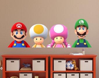 Mario Custom Name Wandtattoo personalisierte Wandtattoo   Etsy