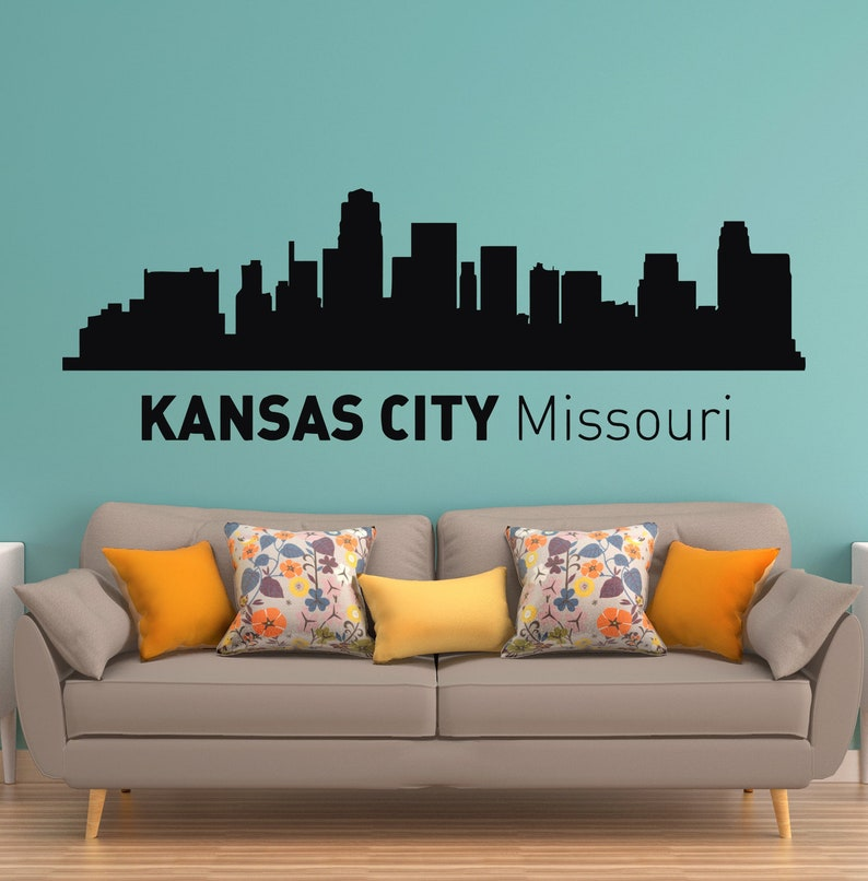 Kansas City Missouri Skyline Silhouette Wall Vinyl Decal