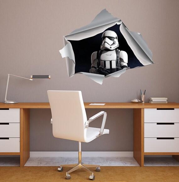 Sturmtruppen 3D-Effekt Wand Wandbild, Wandtattoo, Star Wars Wandtattoo für  Kinder Zimmer Kinderzimmer Home Dekor Schlafzimmer Kunst Design innen AS4