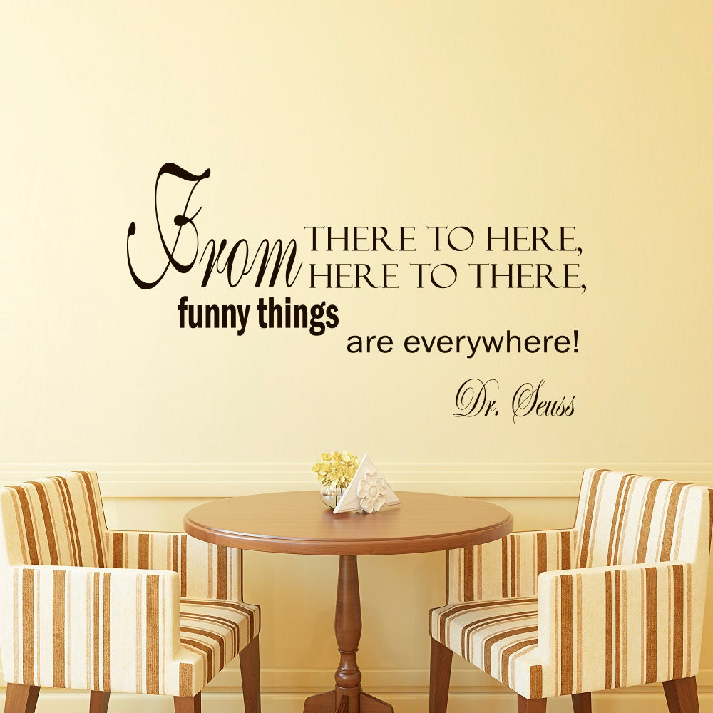 Vinyl Wall Decal Inspirational Quote From There To Here From