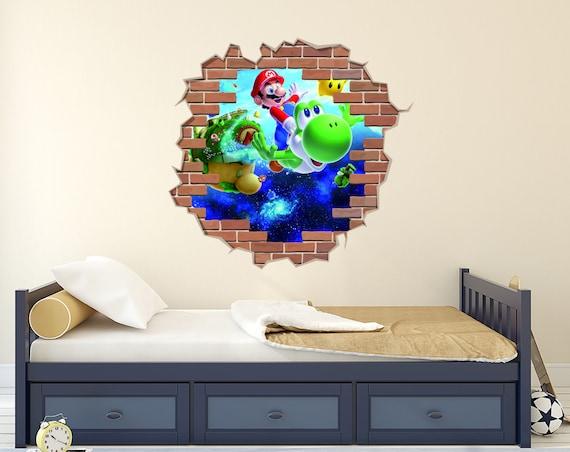 Mario Odyssey Wall Decal, Mario Vinyl Stickers, Super Mario Sticker, Mario  Bros Art, Mario Odyssey Sticker, Kids Room, Nursery Decor AS47