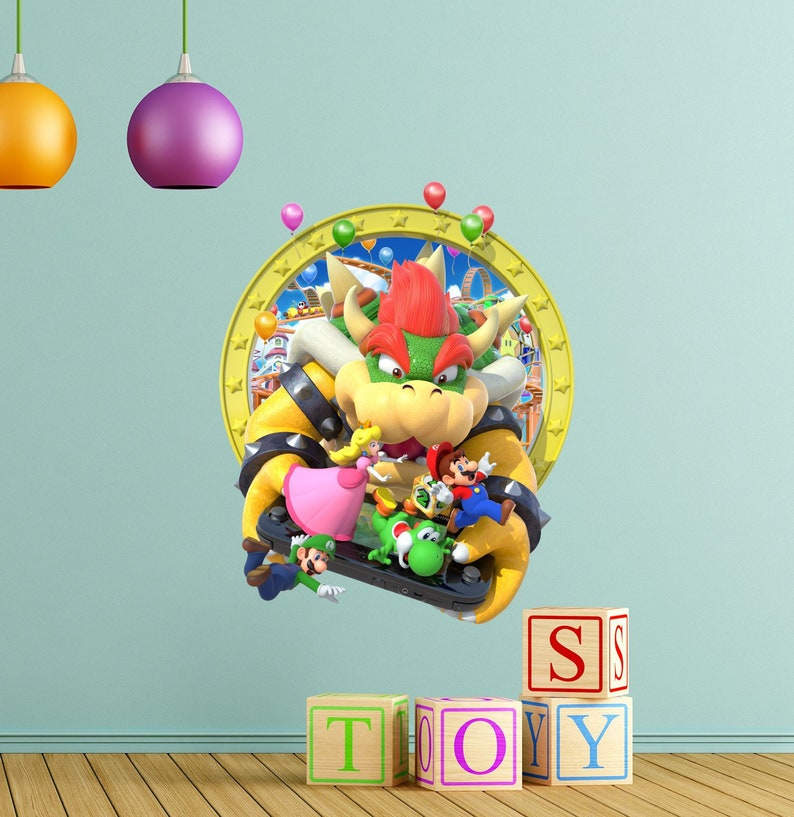 Super Mario-Wandtattoo Prinzessin Peach Vinyl-Aufkleber   Etsy