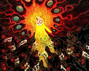 Prince with a Thousand Enemies  Lustre print        - Watership down el-ahrairah rabbit death life circle spiritual Wall art