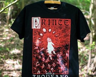 Prince with a Thousand Enemies Black Unisex T-Shirt   - Watership Down black rabbit El-Ahrairah Inlé