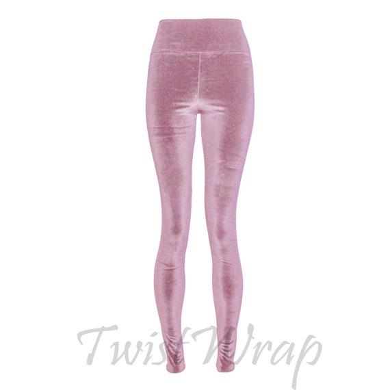 e04d24743386e Velvet Leggings Dusty Pink High Waist Tights Plus Size Skinny   Etsy