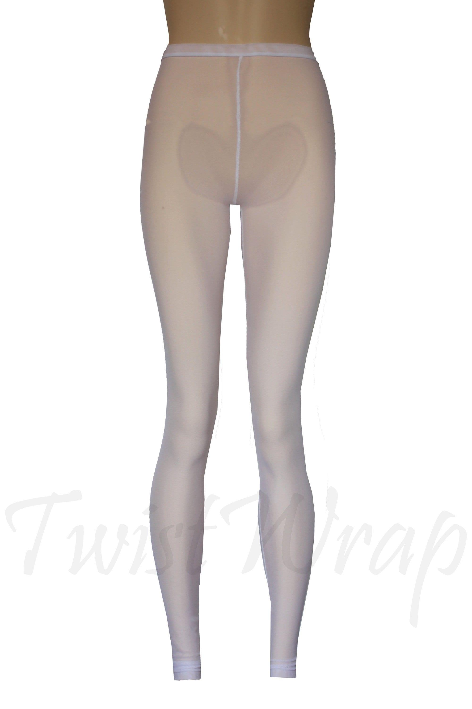 353c2a0d9f Sheer Leggings White Ballet Dance Tights See Through Yoga   Etsy