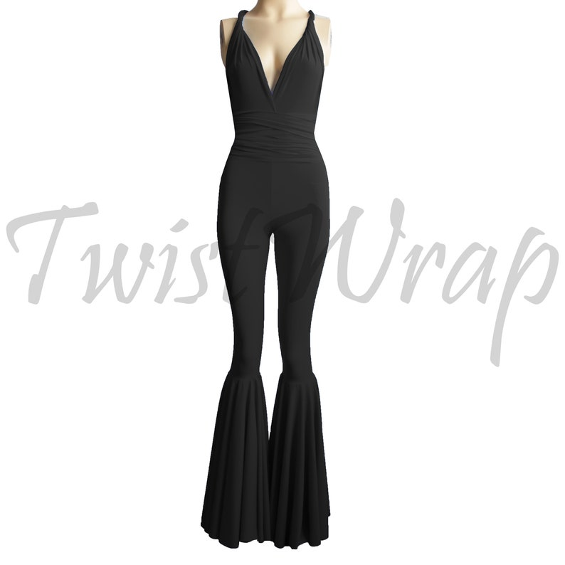 198318d25f8 Convertible Jumpsuit Bridesmaid Overall Black Infinity Romper