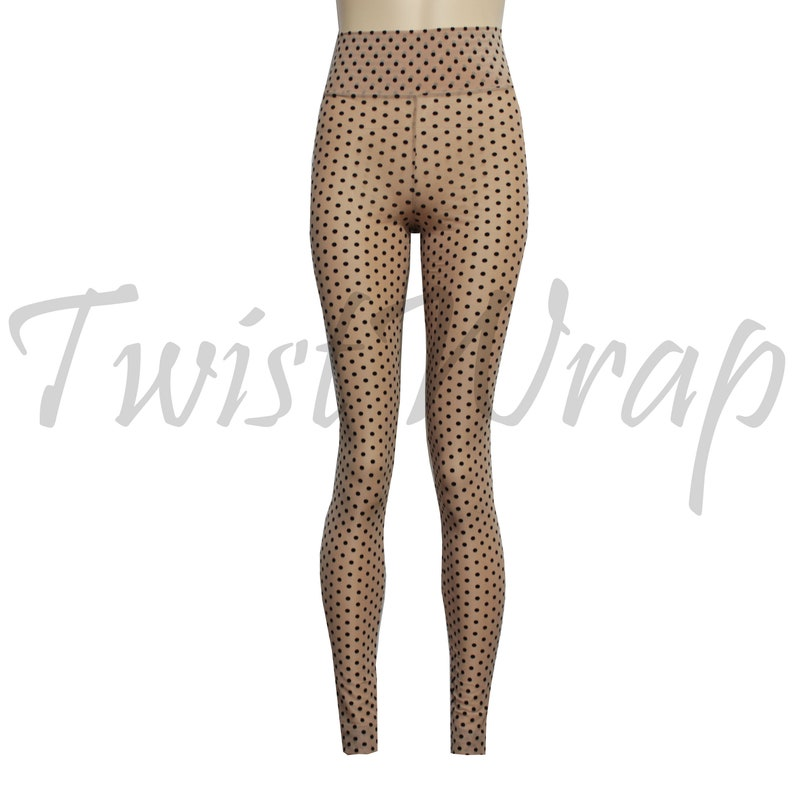 2e41c9210ab88 Sheer Leggings Burnout Velvet Polka Dot Tights See Through