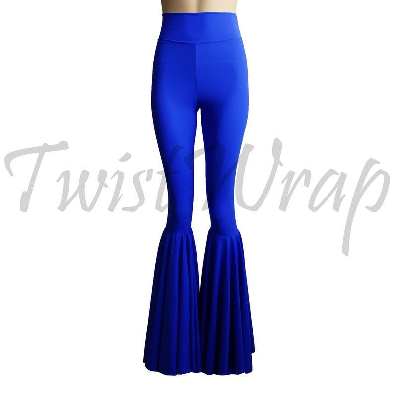 a98be1444a2 Flare Pants Royal Blue Bell Bottoms Plus Size Festival Clothing Rave Party  Outfit High Waist Boho Pants 70' Disco Flares