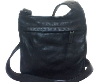 64a48099d259 MIU MIU Vintage Black Small Leather Shoulder Crossbody Bag