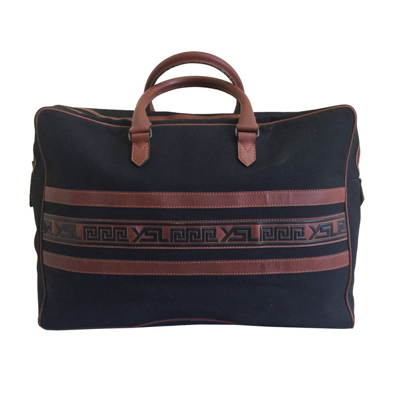 YSL Yves Saint Laurent Vintage Canvas Travel Weekender Bag  b414ad731c9d1