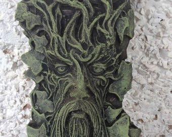 Stone Garden Celtic Greenman Wall Plaque Garden Ornament 3 Colours