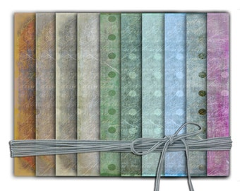 Pretty decorative papers in 10 chalky subtle colourways