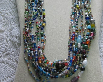 M- One Dozen Mardi Gras Glass bead necklaces from New Orleans-Carnival --Parade