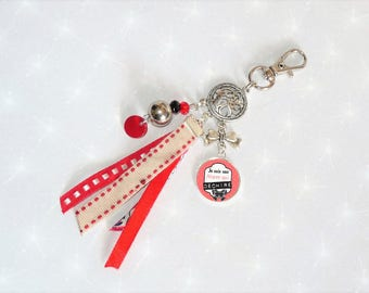 Jewelry bag/Keychain red pre-school who torn end year gift