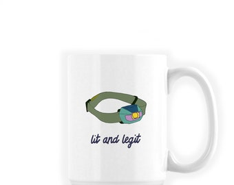Funny Lit and Legit Coffee Mug | Big Coffee Mug | Camp Mug | Coworker Gift Idea Office Mug | Camping Coffee Mug | Funny Mug for Him
