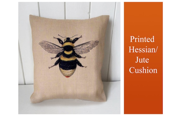 Upholstery Craft Panel Bumble Bee Fabric Cushion