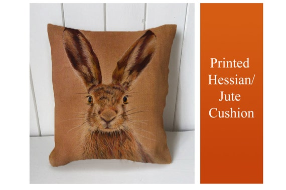Country Hare Printed Fabric Panel Make A Cushion Upholstery Craft