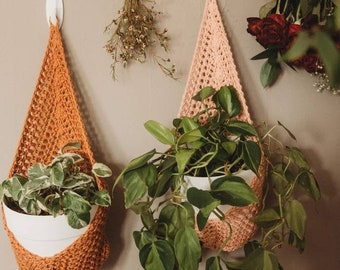 Wall Plant Holders | Hanging Planters | Crochet Home Decor | Hanging Pot Holders for Plants and Gardening  | Indoor Garden Decor