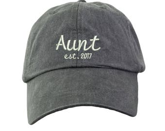 Aunt Est. 2017-1 Embroidered Cap Baseball Hat. Adjustable Leather Strap. 15  Colors Avail. HER-LP101 b6cf6cca058