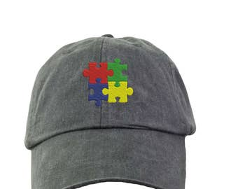 Autism Awareness Baseball Hat - Embroidered. Autism Mom Hat. Autism Dad Hat.  Support Autism Hat. Autism Gift. Autism Cap. HER-LP101 0e7e23c6e5ec