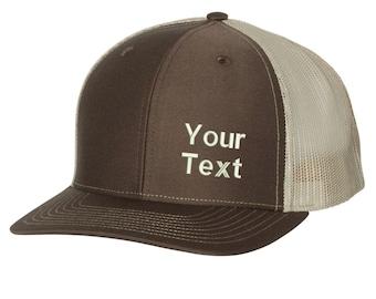 7acedddd55ac90 Personalized Custom Snapback Hat - Embroidered. Custom Text Trucker Hat.  Embroidered Richardson Trucker Hat. Custom Text Snapback Hat. 112