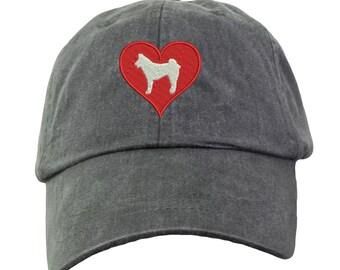 8a1c152c895 Love Heart Siberian Husky Baseball Hat - Embroidered. Siberian Husky Mom Hat.  Siberian Husky Mom Gifts. Siberian Husky Gifts. HER-LP101
