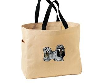 137cc550ab Shih Tzu Tote Bag. Embroidered Shih Tzu Tote. Cute Dog Pet Tote Bag. Shih  Tzu Handbag. Shih Tzu Purse. SM-B0750
