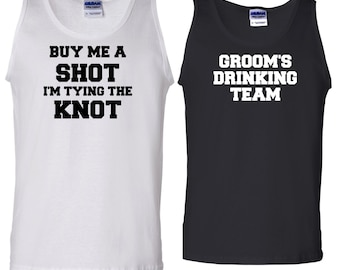 bba71b58d20c8 6 Grooms Drinking Team Mens Tank. Bachelor Party Shirts. Drinking Team.  Groom Shirts. Groomsman Shirts. Wedding Party Shirts. G005