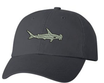 e578af1cdd45b Hammerhead Shark Baseball Hat - Embroidered. Shark Baseball Cap. Shark  Gift. Shark Week. Shark Gifts. VC300A
