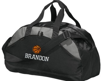 Personalized Basketball Player Duffel Gym Bag - Embroidered. Basketball  Player Duffle Gym Bag. Personalized Basketball Gym Bag. SM-BG1070 a2feabbcbc9c4