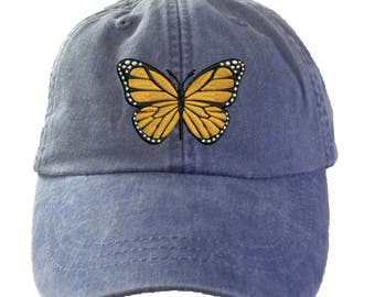 Butterfly Baseball Hat. Ladies Butterfly Hat Cap. Butterfly Gifts. Love  Butterflies. Cool Mesh Lining   Adjustable Strap. HER-LP101 23748180c1fb