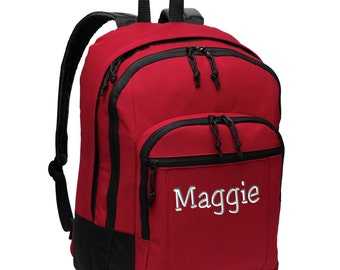 Personalized Backpack - Embroidered. Custom Embroidered Backpack. School  College Backpack. Customized Basic Backpack. SM-BG204 60719d1551