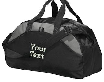 Custom Text Duffel Bag - Embroidered. Personalized Text Gym Bag. Customized  Text Duffel Gym Bag. Make Your Own Duffel Bag. SM-BG1070 6fd1b9e9ffcab