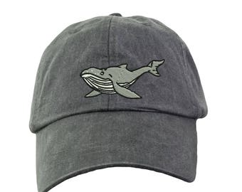 8105a594053 Humpback Whale Baseball Hat - Embroidered. Humpback Whale Baseball Cap.  Unisex Humpback Whale Hat. LP101