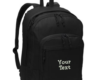 fc5886a2a0 Personalized Backpack - Embroidered. Embroidered Backpack. Customized Your  Text Backpack Bag. Make Your Own Backpack. SM-BG204