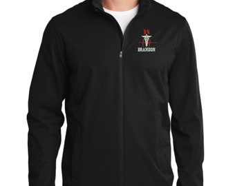Men s Personalized Nurse Rn Bsn Lpn Full Zip Soft Shell Active Jacket With  Pockets - Embroidered. Custom Men s Rn Nurse Jacket. RN 1A J717 cf7f311d4