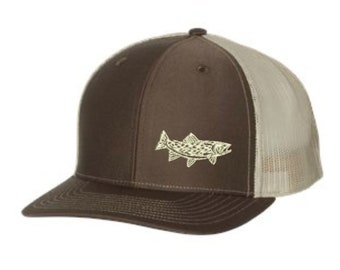 40ddda5895062 Trout Fishing Hat - Embroidered. Trout Fishing Trucker Hat. Outdoors Fishing  Cap. Trout Snapback Hat. Wildlife Hat. SS-112
