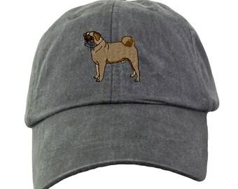 Pug Baseball Hat - Embroidered. Pug Mom Baseball Hat. Pug Dad Baseball Hat.  Pug Mom Gift. Pug Dad Gift. Pug Baseball Cap. LP101 25f1ab57858e