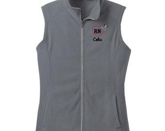 Nurse Jacket Monogrammed Nurse Gift Charles River Vest Personalized Vest for Medial field Monogrammed Vest