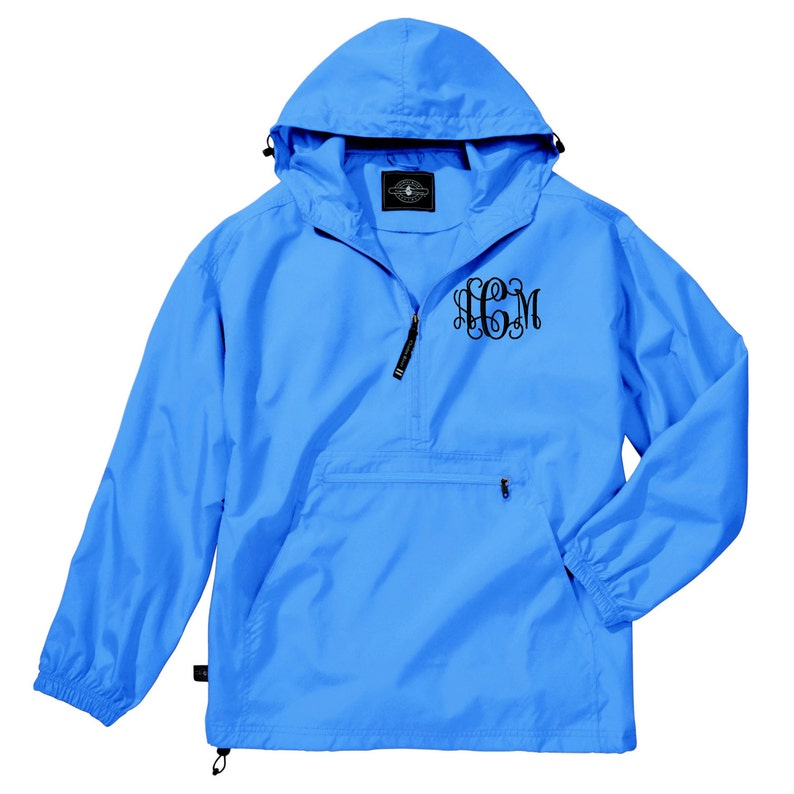 Monogram Light Weight Pullover. Monogrammed Rain Jacket. image 0